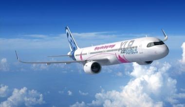 Airbus A321XLR concept in flight