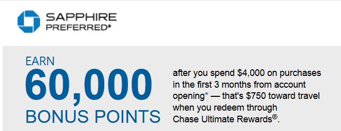 Chase Sapphire sign up bonus
