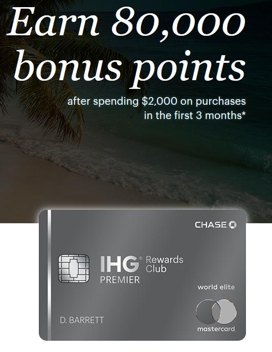 Chase IHG Premier sign up bonus