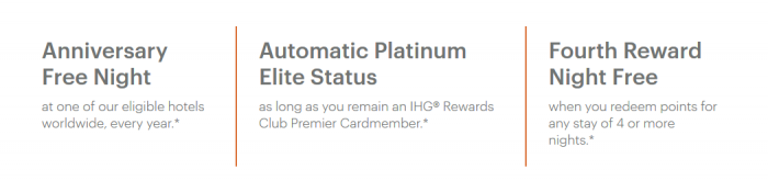 Chase IHG Premier card benefits