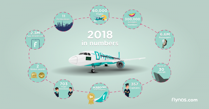 Flynas financial results infographic