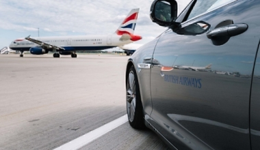 Heathrow airport with aircraft on apron