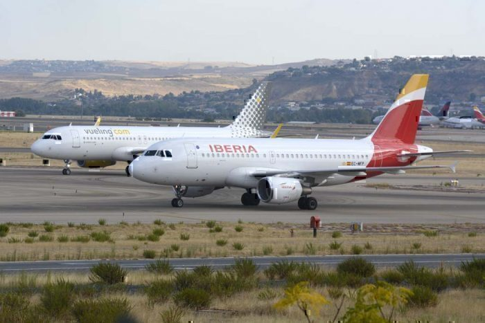 Iberia and Vueling aircrat spain