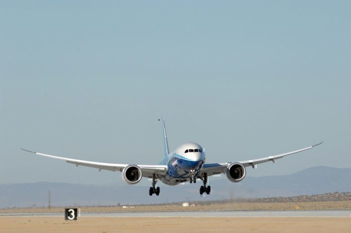 Boeing plane lands during test