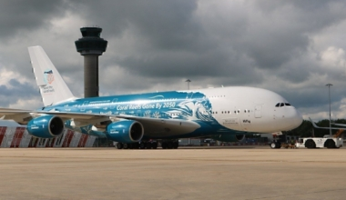 Stansted Airport HiFly A380