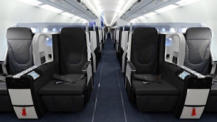 JetBlue Mint cabin interior