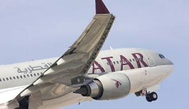 Qatar Airways take-off
