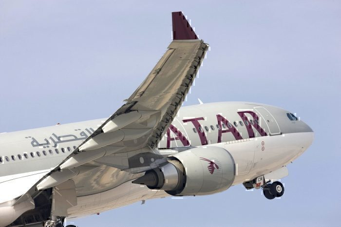 Qatar Airways take-off