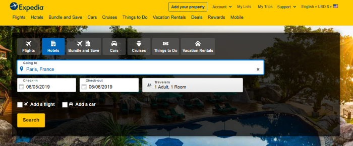 Booking with Expedia