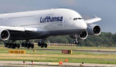 Lufthansa Airbus A380 Delhi