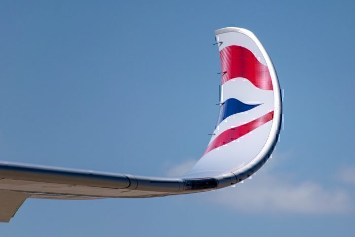 The gorgeous painted wingtips of BA's A350