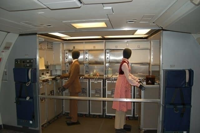 Flight attendant galley mockup
