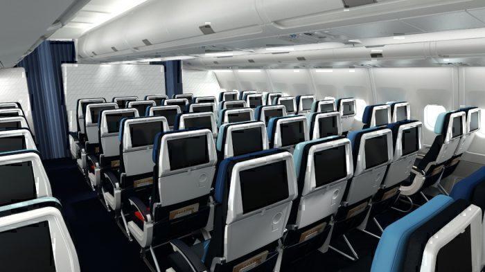 Air France A330 economy seatback screens