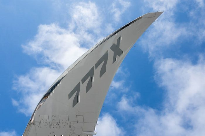 B777X wingtip closeup