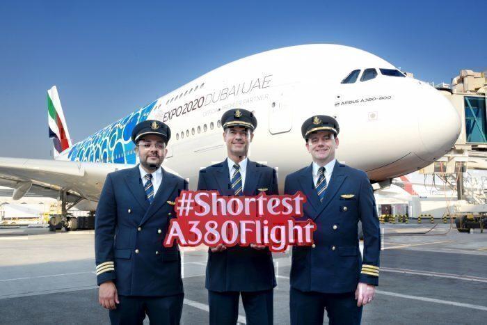 Emirates Shortest Airbus A380 Flight Dubai Muscat