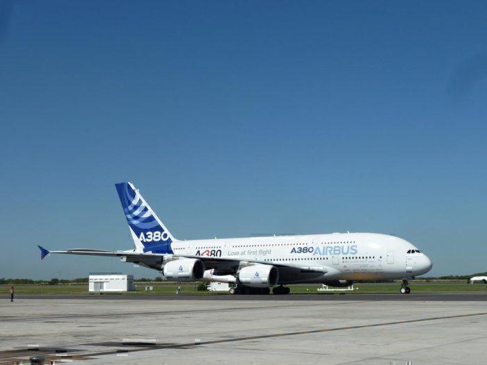 A380 in Ezeiza