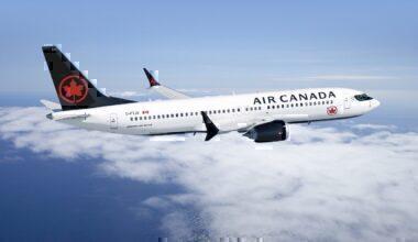 An Air Canada Boeing 737 MAX in flight
