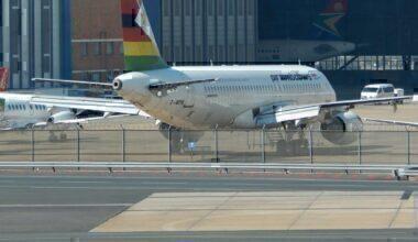 Air Zimbabwe A320 at JNB