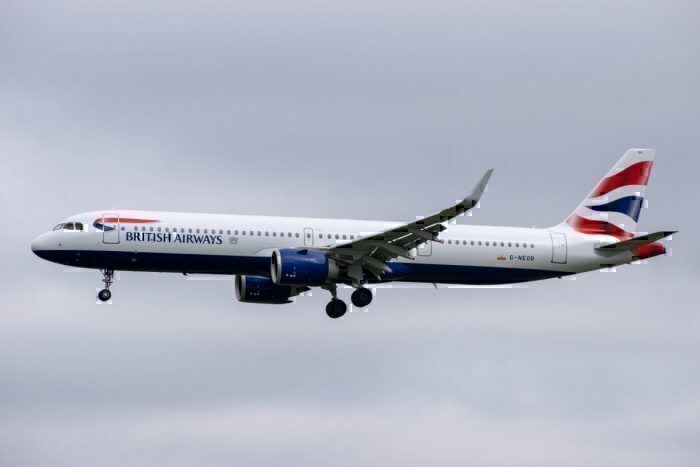 British Airways Airbus A321neo London Cairo