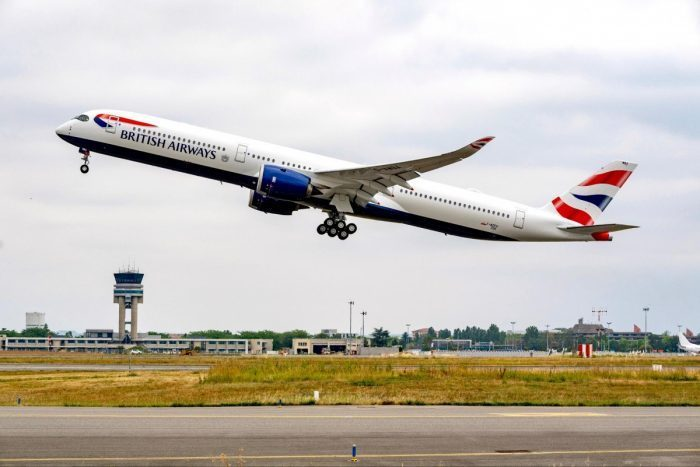 British Airways Airbus A350 Madrid Inaugural Flight