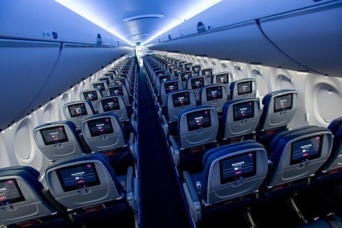 Delta A220 interior