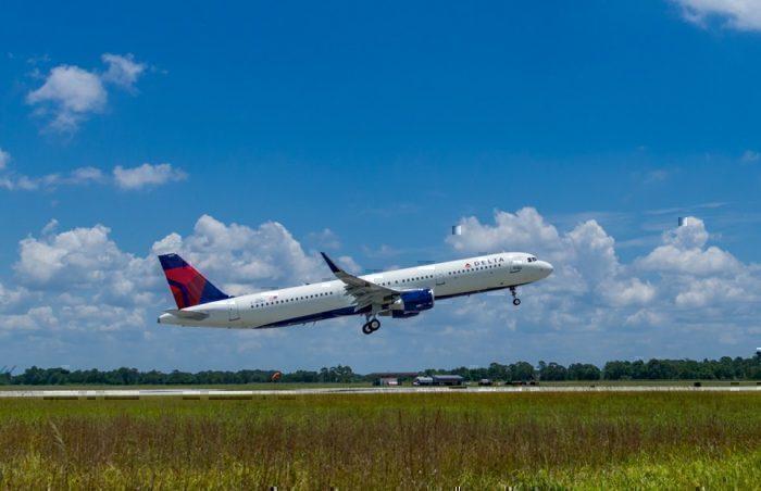 Delta first carbon neutral flight