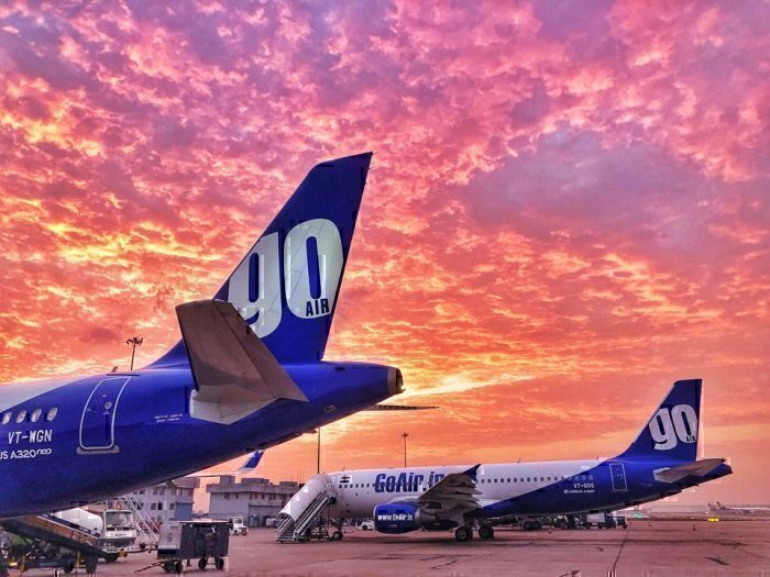 GoAir-A320-red-sky