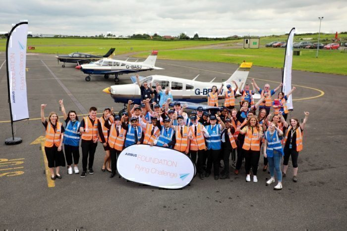 Airbus UK Aviation Skills Students