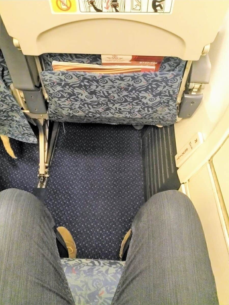 RAM 737-700 Emergency row legroom