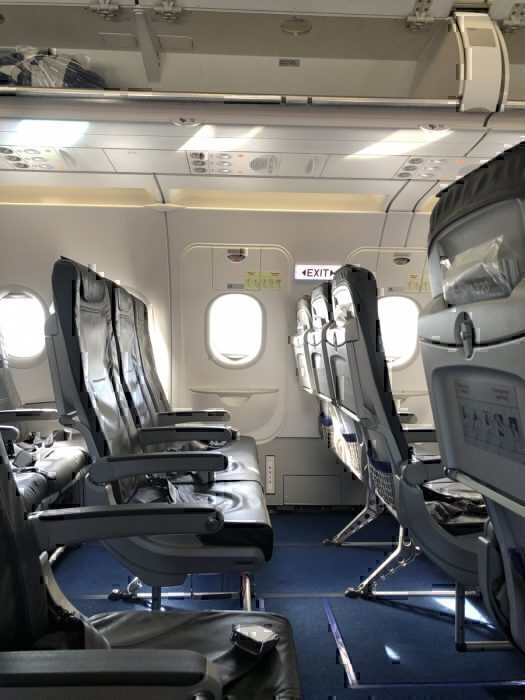 emergency exit row