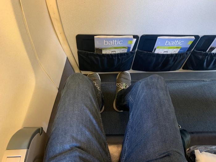 Photo of leg room
