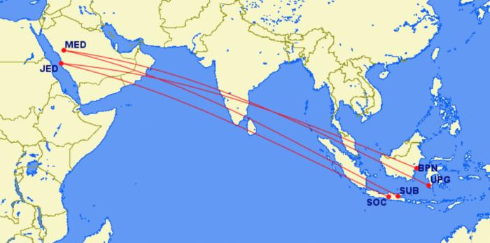 Lion Air A330neo routes