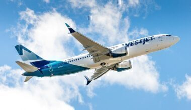 A WestJet Boeing 737 MAX in flight