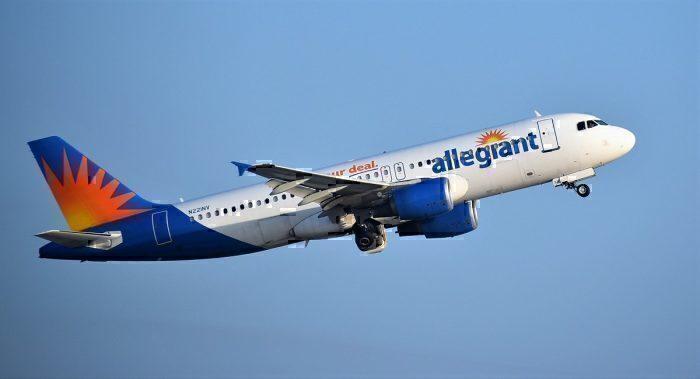 Allegiant airliner take-off