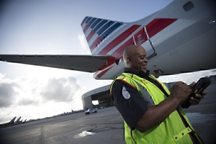 American Airlines ground crew