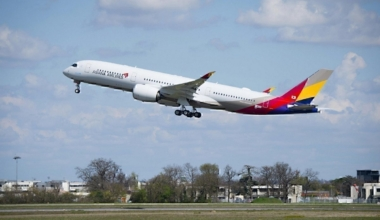 Asiana Airlines takeoff