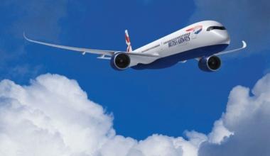 British Airways First Airbus A350 First Flight