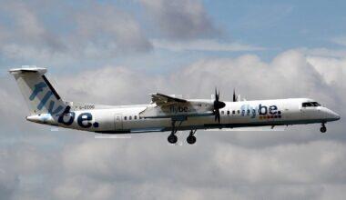 Flybe Q400 airborne