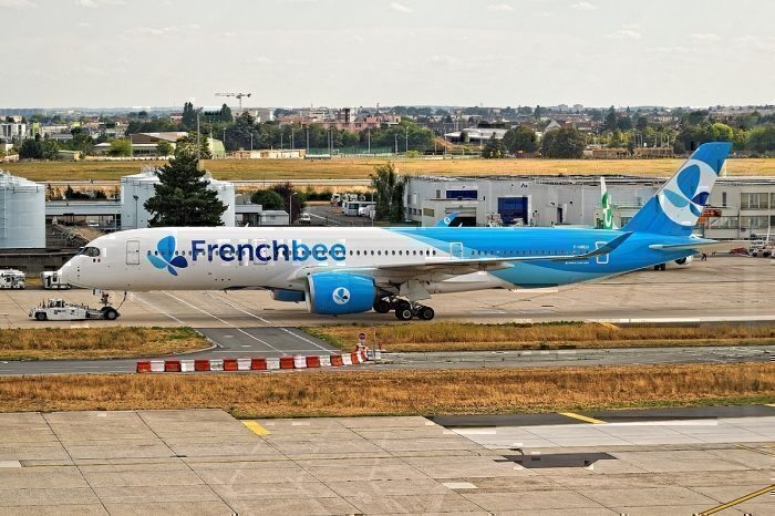 French bee A350 on ground