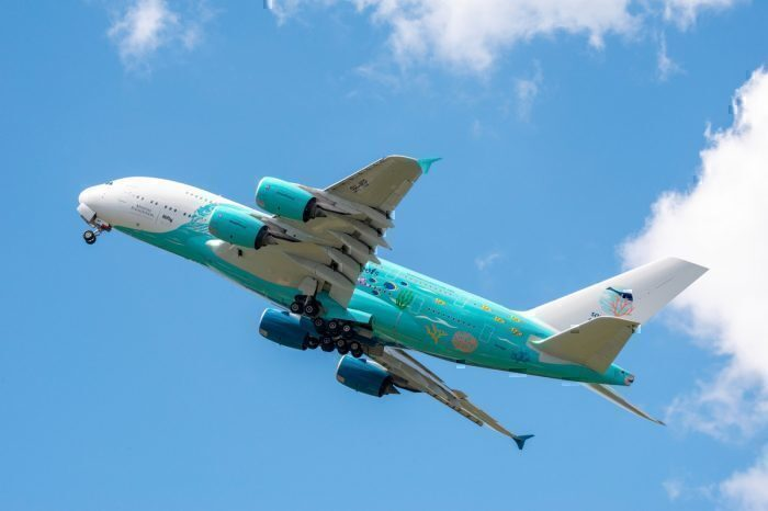 hi Fly A380 stunning livery