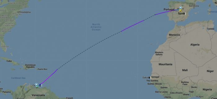 hi fly a380 to Caracas