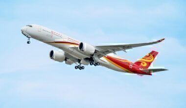 Hong Kong Airlines A350 take-off