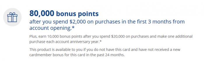 HG Rewards Club Premier Credit card bonus