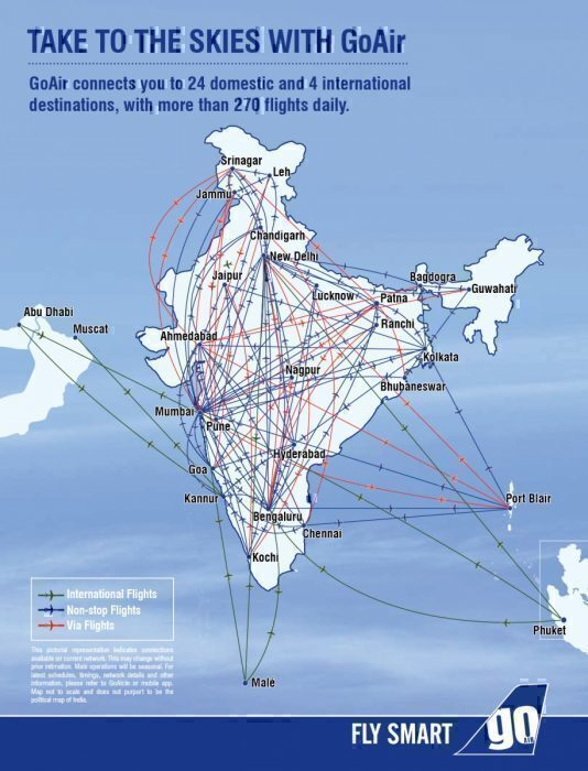 GoAir-route-map