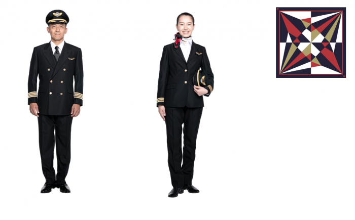 New JAL pilot uniforms