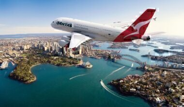 Qantas A380 over Sydney