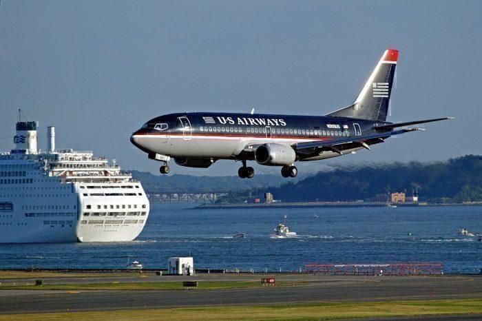 US Airways 737 landing