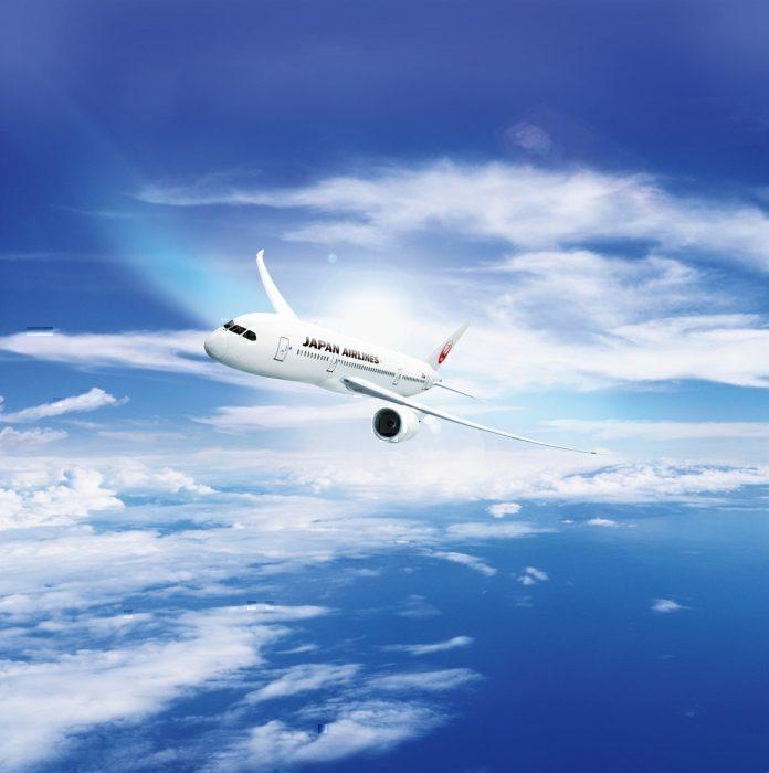 JAL B787 concept in flight