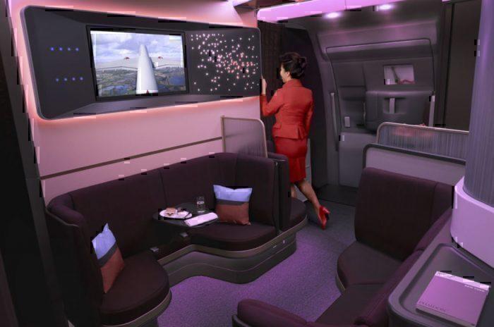 Virgin Atlantic A350 Loft bar