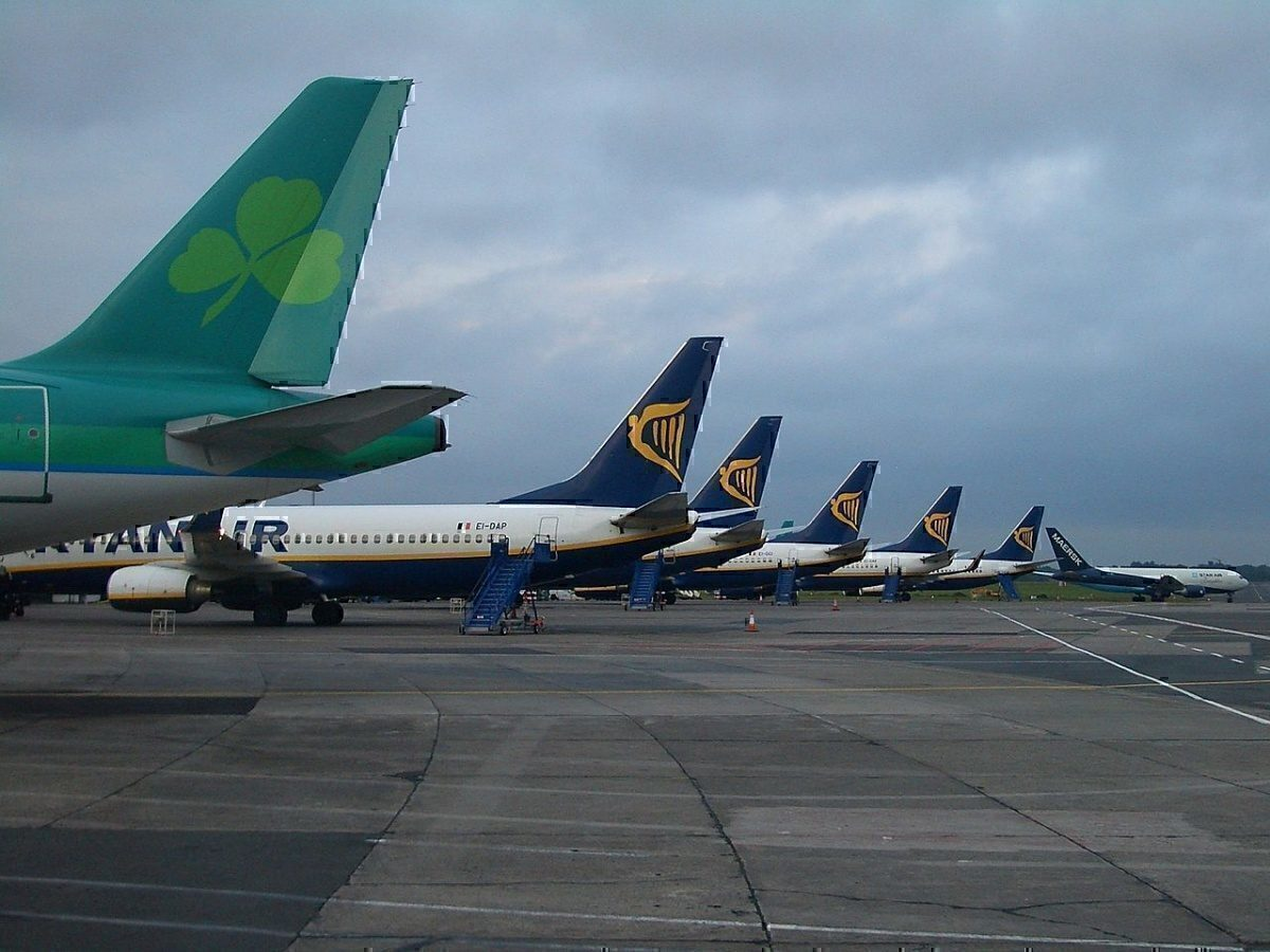 Aer Lingus and Ryanair Planes at Dublin Airport